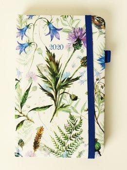 Kalendarz książkowy 2020, kraftowy, Kwiaty