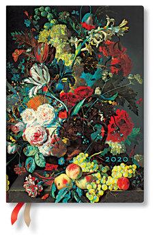 Kalendarz książkowy 2020, Midi Horizontal, Van Huysum