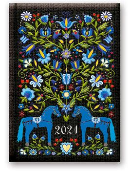 Kalendarz książkowy 2021, format B6, mix wzorów
