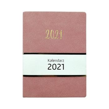 Kalendarz książkowy 2021, welurowy, różowy
