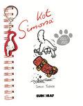 Kalendarz książkowy szkolny Kot Simona z breloczkiem 2021/2022