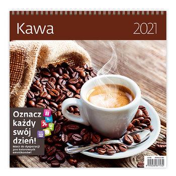 Kalendarz ścienny 2021, z naklejkami, Kawa