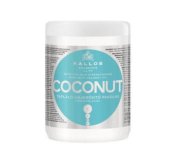 Kallos, Coconut, odżywczo-wzmacniająca maska do włosów, 1000 ml-Kallos