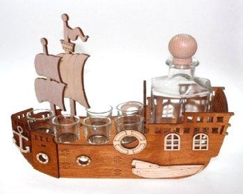 Karafka na alkohol - statek, 500 ml + 6 szt. kieliszków-Pigmejka