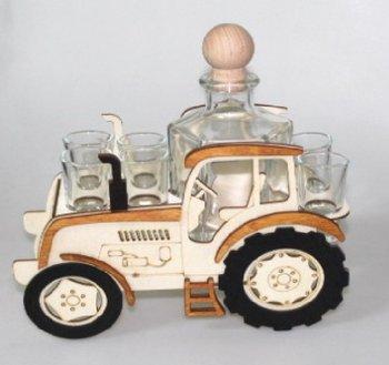 Karafka na alkohol - traktor, 500 ml + 6 szt. kieliszków-Pigmejka