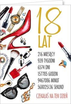 Karnet okolicznościowy, 18 urodziny, Party10-Stamp