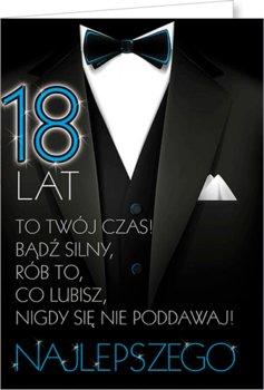 Karnet okolicznościowy, 18 urodziny, Party11-Stamp