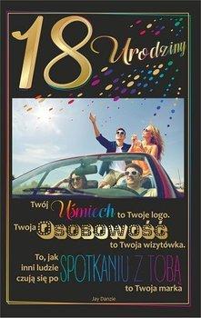 Karnet okolicznościowy, 18 urodziny, U65-AB Card