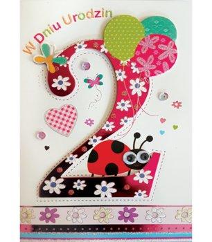 Karnet okolicznościowy, 2 urodziny, M 510-Maja
