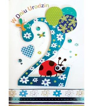 Karnet okolicznościowy, 2 urodziny, M 511-Maja