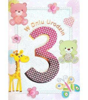 Karnet okolicznościowy, 3 urodziny, M 512-Maja