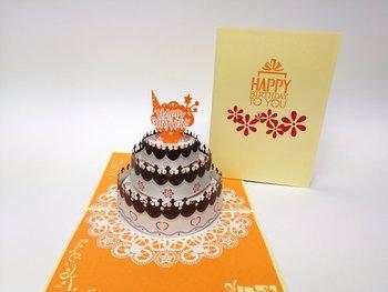 Karnet okolicznościowy 3D, Niezwykły tort urodzinowy-GrandGift