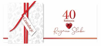 Karnet okolicznościowy, 40 rocznica ślubu - rubinowa, KPAS 62-Armin Style