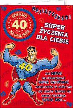 Karnet okolicznościowy, 40 urodziny, Party05-Stamp
