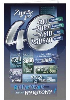 Karnet okolicznościowy, 40 urodziny, ST02-AB Card