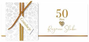 Karnet okolicznościowy, 50 rocznica ślubu - złota, KPAS 64-Armin Style