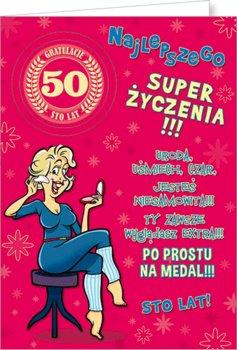 Karnet okolicznościowy, 50 urodziny, Party01-Stamp