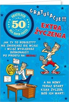 Karnet okolicznościowy, 50 urodziny, Party02-Stamp