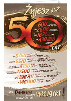 Karnet okolicznościowy, 50 urodziny, ST03-AB Card