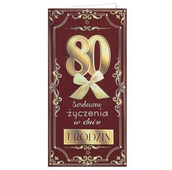 Karnet okolicznościowy, 80 urodziny, EZ 168-ENZO