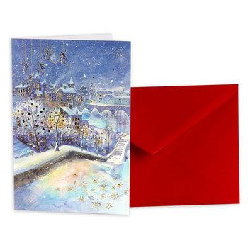 Karnet okolicznościowy, Boże Narodzenie, Miasto zimą