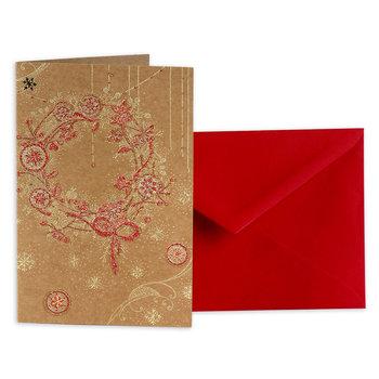 Karnet okolicznościowy, Boże Narodzenie, Wieniec