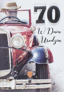 Karnet okolicznościowy dla taty na 70 urodziny, M 681-Maja