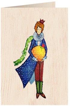 Karnet okolicznościowy drewniany, Mały Książę