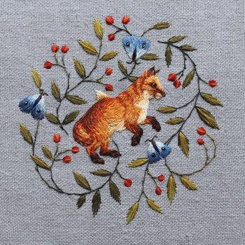 Karnet okolicznościowy, Fox and Butterflies-Museums & Galleries