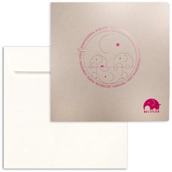 Karnet okolicznościowy, Moc życzeń, beżowy-Forum Design Cards