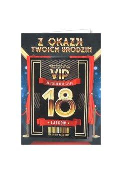 Karnet okolicznościowy na 18-tkę dla kolegi, VIP 1-yeku
