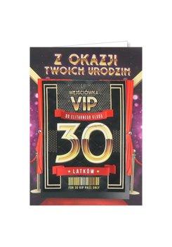 Karnet okolicznościowy na 30 urodziny dla koleżanki, VIP 4-yeku