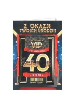 Karnet okolicznościowy na 40 urodziny dla kolegi, VIP 5-yeku