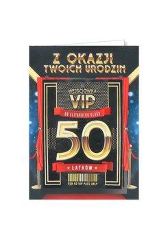 Karnet okolicznościowy na 50 urodziny dla mężczyzny, VIP 7-yeku