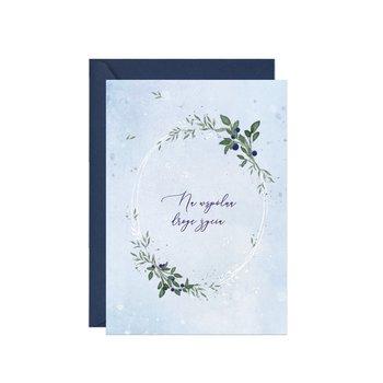 Karnet okolicznościowy na ślub, Niebieska Jagoda