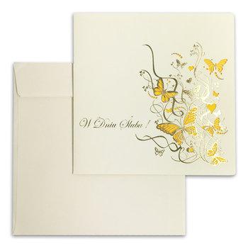 Karnet okolicznościowy, Ślub, ecru-Forum Design Cards
