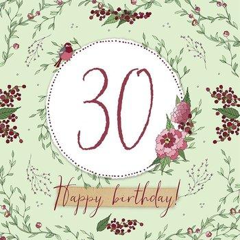 Karnet okolicznościowy Swarovski, 30 urodziny-Clear Creations