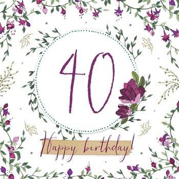 Karnet okolicznościowy Swarovski, 40 urodziny-Clear Creations
