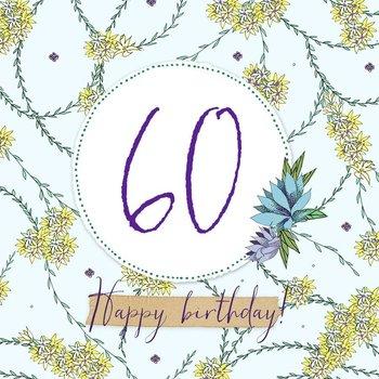 Karnet okolicznościowy Swarovski, 60 urodziny-Clear Creations