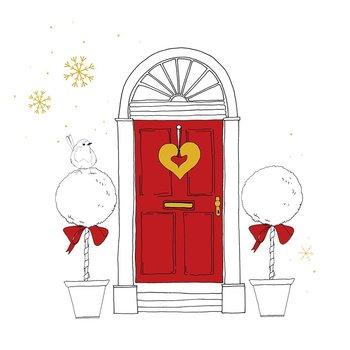Karnet okolicznościowy Swarovski, Boże Narodzenie, Drzwi