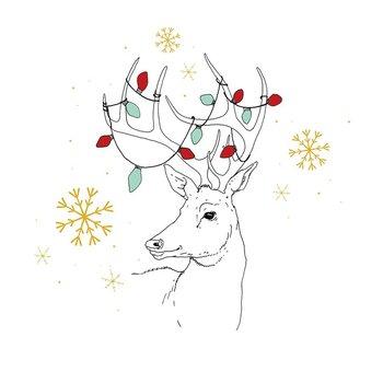 Karnet okolicznościowy Swarovski, Boże Narodzenie, Renifer
