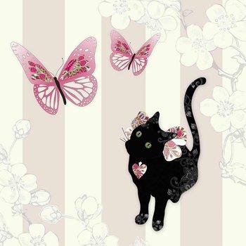 Karnet okolicznościowy Swarovski, Kot i motyle
