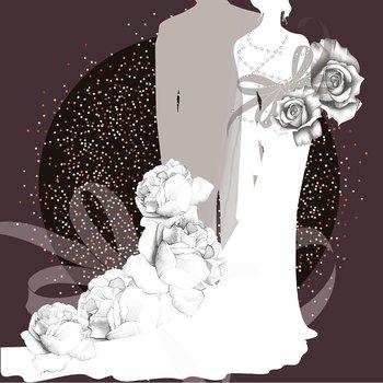 Karnet okolicznościowy, Swarovski, ślub, para młoda