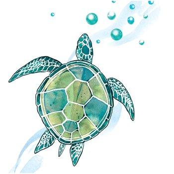 Karnet okolicznościowy, Swarovski, żółw