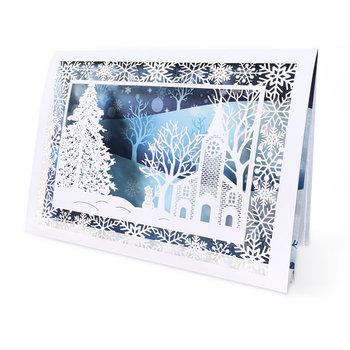 Karnet okolicznościowy - święta 3D, pejzaż-Forum Design Cards