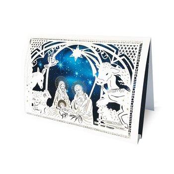 Karnet okolicznościowy - święta 3D, szopka-Forum Design Cards