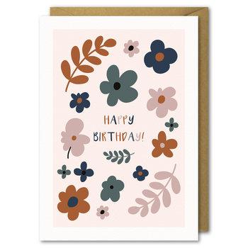 Karnet okolicznościowy urodziny, Jesienne Kwiaty