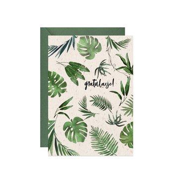 Karnet okolicznościowy z gratulacjami, A6, tropikalny
