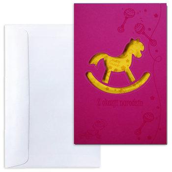 Karnet okolicznościowy, Z okazji narodzin, różowy-Forum Design Cards