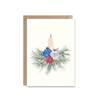 Karnet świąteczny ze stroikiem